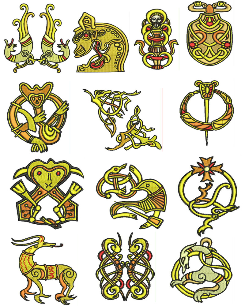 Viking designs embroidery