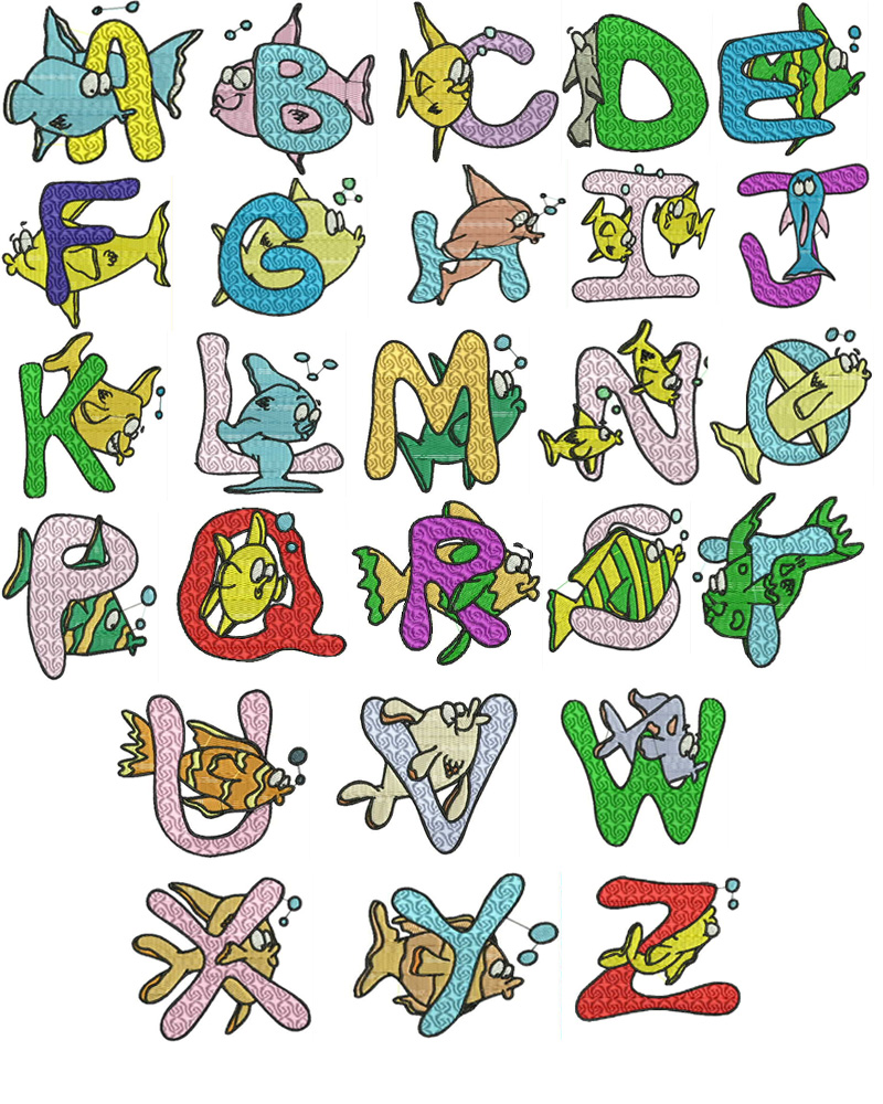 Fishing machine embroidery designs free font cd brother