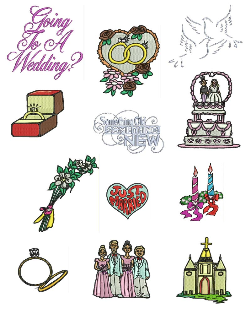 Vintage wedding machine embroidery designs free font